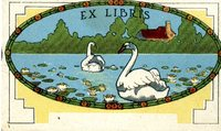 Swan's on a Lake Blank Bookplate