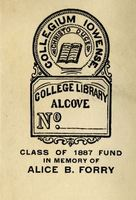 Class of 1887 Fund in Memory of Alice B. Forry Bookplate