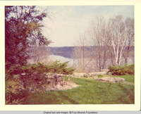 View of Mississippi river from Rock garden in Spring