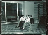 Studying in Main Library, The University of Iowa, 1950s