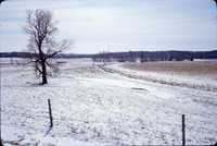 No-till field with winter snow cover.