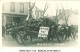 Old car in Mecca Day parade, The University of Iowa, 1915