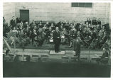 Chamber orchestra broadcasting over WSUI, The University of Iowa, 1940s