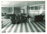 Studying in a Main Library lounge, the University of Iowa, November 1955
