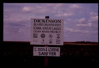 Dickinson County Clean Water Alliance Project Signs and Materials.