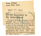 SPAR recruiter to be interviewed