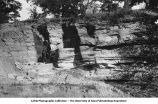 Jointed structure in Carboniferous sandstone, Montpelier, Iowa, late 1890s or early 1900s