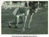 Iowa track and field runner Edward Wiggins, The University of Iowa, 1930s