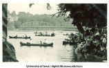 Rowboats on Iowa River, The University of Iowa, 1920s