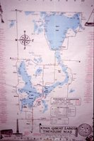 Iowa Great Lakes Treasure Map.