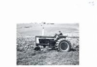T.J. Dunne plowing contour strip, 1966
