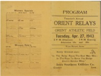 Orient, Iowa Relays - 1943