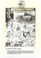 Button and cartoon, National Corn Husking Contest, 1931