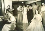 Women dressing for Ball in Iowa Memorial Union, the University of Iowa, 1930s