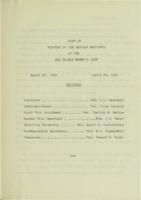 0132 Des Moines Women's Club Minutes 1960-1962