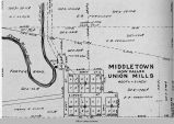 Union Mills, IA, 1913 map; Union Township; Mahaska County; Iowa