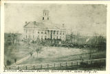 Old Capitol draped for Lincoln's funeral, The University of Iowa, April 19, 1865
