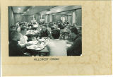 Students eating in the Hillcrest dining room, the University of Iowa, 1966