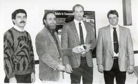 1995 - Mike Lewitke, Jeff Bergman, Dean Brader and Brian Keitzer at Farmers Appriciation Banquet