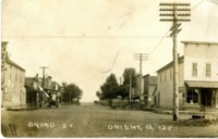 Postcard Showing Broad Street in Orient, Iowa