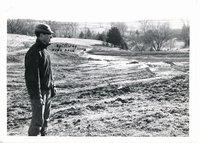 Loren Kilburg farm's diversion dam construction, 1965
