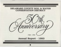 Delaware County Soil Conservation District Calendar & Annual Report - 1993