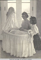 Frindy, Vidie and Baby Betsy Burden in White house sun porch
