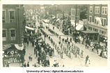 Fraternal Order of Eagles in parade, The University of Iowa, 1915