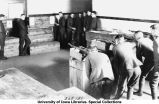 Cadets in classroom learning rifle sighting, The University of Iowa, 1918