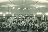 Orchestra and choir in Christmas concert at Iowa Memorial Union, The University of Iowa, December 1932