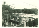 Chemistry Building construction, the University of Iowa, 1922