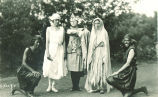 Students in costumes, The University of Iowa, 1920?