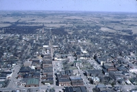 Aerial urban images of Centerville, Iowa.