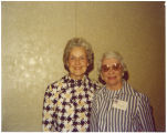 Mary Louise Smith with Commiteewoman of West Virginia Priscilla Humphreys, Washington, D.C., 1970s