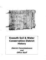 Kossuth County Soil and Water Conservation District History of District Commissioners and Office Staff