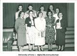 Students at the Majors Banquet, The University of Iowa, May 1953