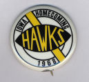 Homecoming badge, October 12, 1968