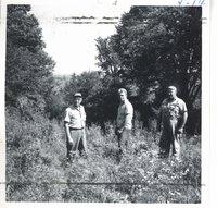 Edward Rubel land before wildlife pond construction, 1963