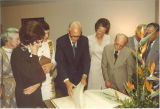 Reception with Dr. John Martin at the Rare Book Room, the University of Iowa, Mar. 31, 1989