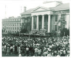 Band playing on the steps of the Old Capitol, The University of Iowa, 1965