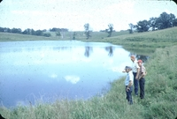 Fishing in the Moulton Watershed at Doyle Anderson's farm.
