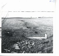 Damaged waterway on Jepsen farm, 1965