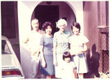 Louise Noun with Japanese family, Japan, October 1973