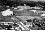 Athletic fields between University Hospital, Iowa Stadium and the Armory, The University of Iowa, May 1962