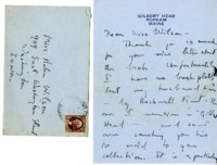Elizabeth J. Etnier letter to Helen Patricia (Patsy) Wilson exchanging bookplates.