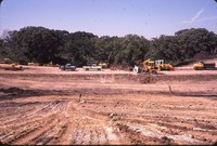 Patterson Road dam construction.