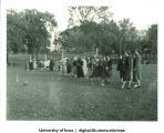 Rolling a ball, The University of Iowa, 1937