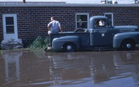 1965 flood damage in Cherokee, Iowa.