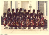 Scottish Highlanders in front of Old Capitol, The University of Iowa, 1979