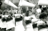 Cheerleaders performing at the Homecoming Game, 1985
